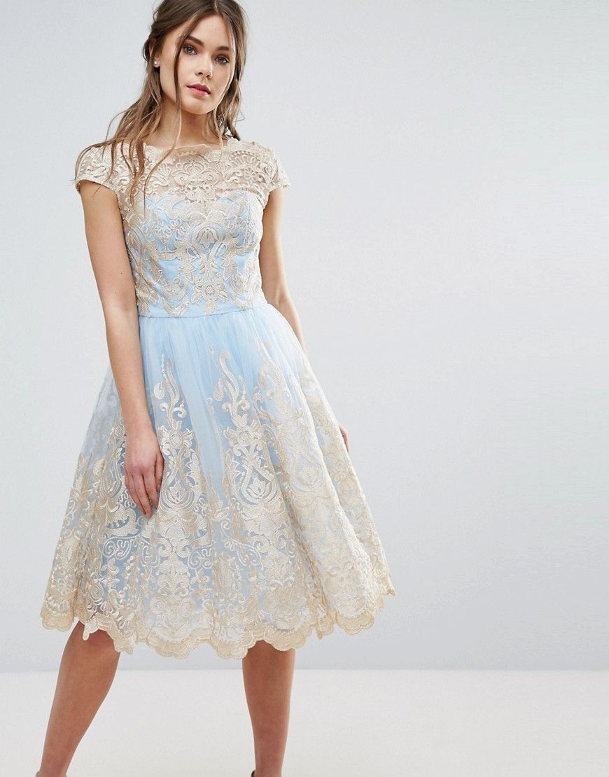 Chi Chi London Metallic Premium Lace Midi Dress | Products