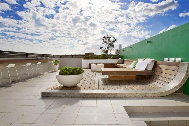 Lieblich Terrassen » Moderne Dachterrasse Bietet Mehrere Unterhaltungsmöglichkeiten  An #bietet #dachterrasse #mehrere #moderne