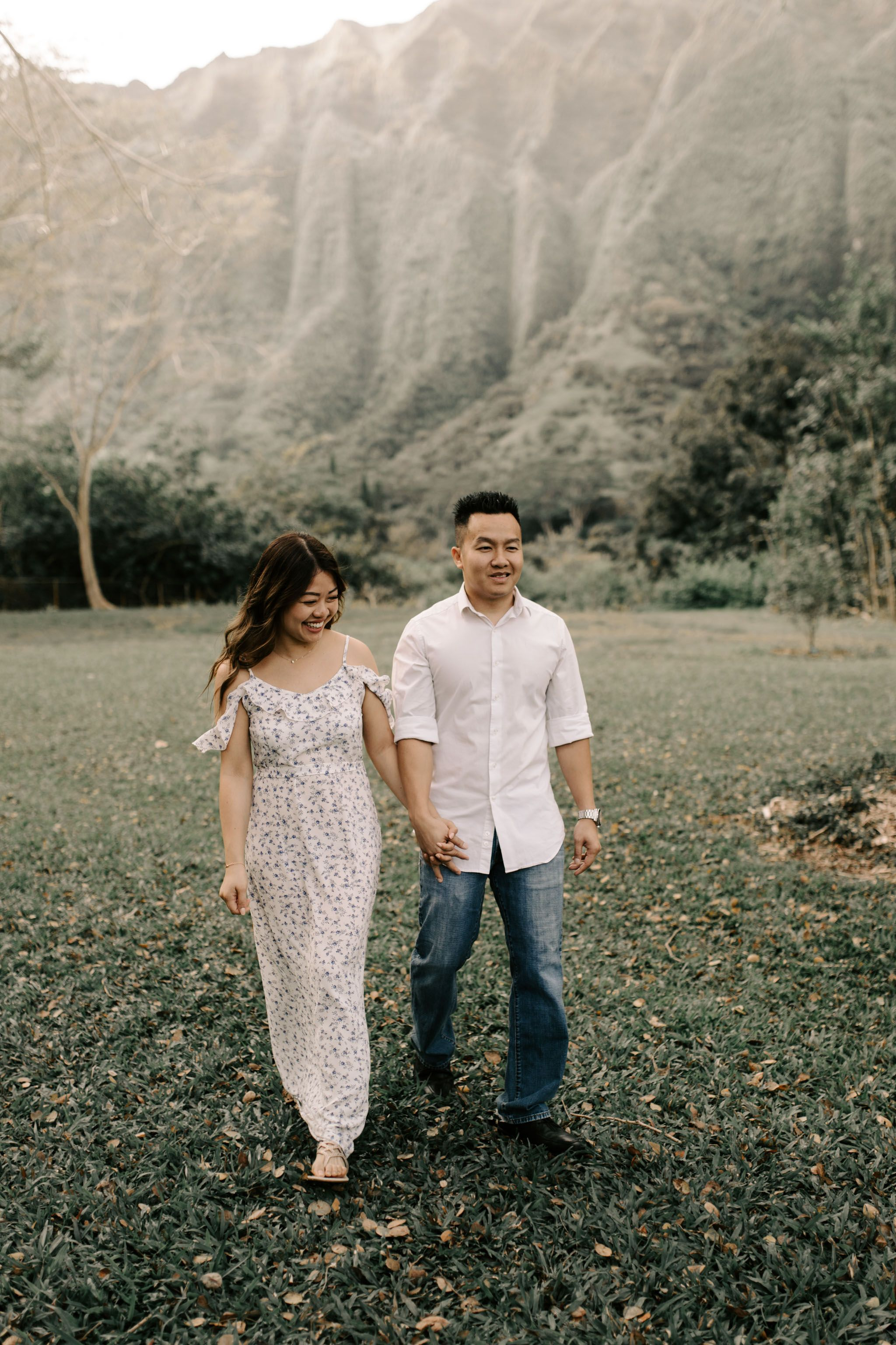 Beautiful Engagement Photos At Hoomaluhia Botanical Gardens By