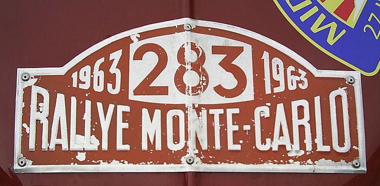 Placa Rallye Monte-Carlo (1963)