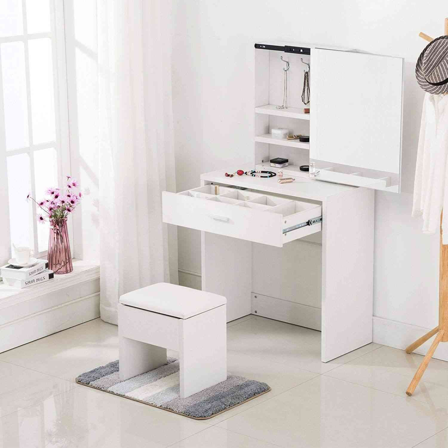 14 Luxury Dressing Table With Some Extra Mirrors Dressing Table With Drawers Dressing Table Design Dressing Table With Stool