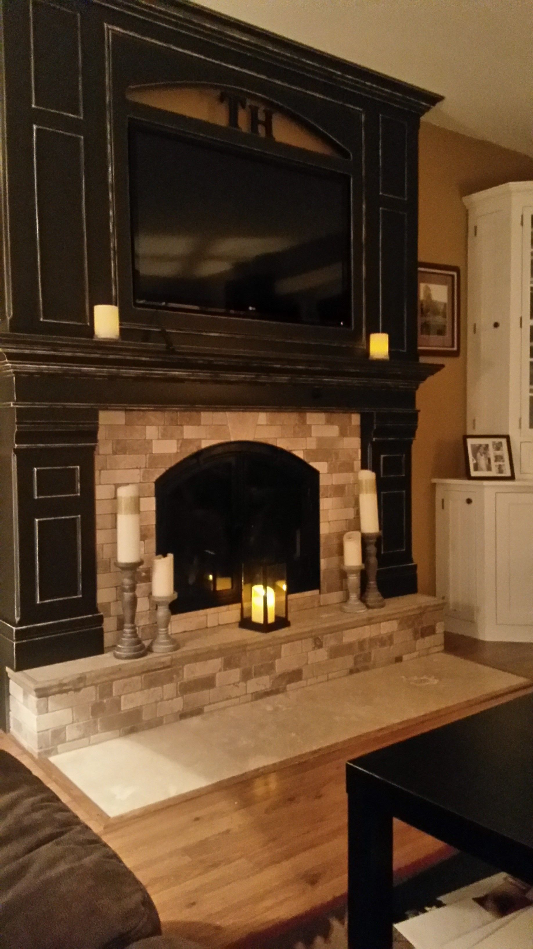 Traditional fireplace months of hard work come to fruition
