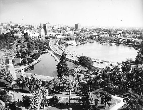 MacArthur Park, Los Angeles before it was redesigned in the 1930s.