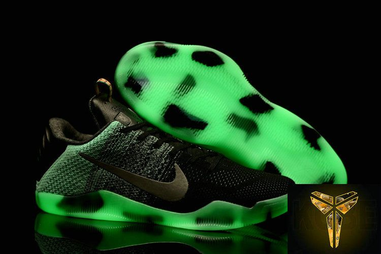 huge selection of 564ba f18a1 Cheap 2016 NBA Playoffs Kobe 11 XI Elite Flyknit All Star Glow In The Dark  Basketball Shoes For Men