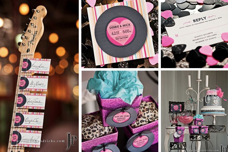 A Rock And Roll Wedding Is Cool Idea Too Could Use Old Vinyl Records