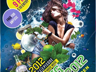 Free Party Flyer Template With Psd Set 5 Webgraphic Design