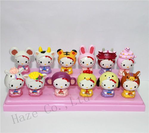 Hello KT Play Animal Action Figures Cake Decorating Kitty Figures Set of 12pcs | eBay