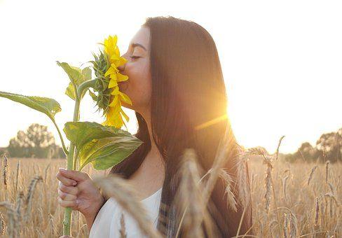 Woman, Summer, Sun Flower, Sun