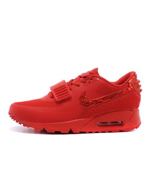 new arrival 1ce09 a67b6 Women s Nike Air Max 90 Air Yeezy 2 SP Red Shoes 647A