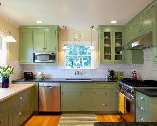 Charmant Decorate Your Kitchen Plans With Light Green Kitchen Cabinets Design:  Amazing Light Green Kitchen Cabinets