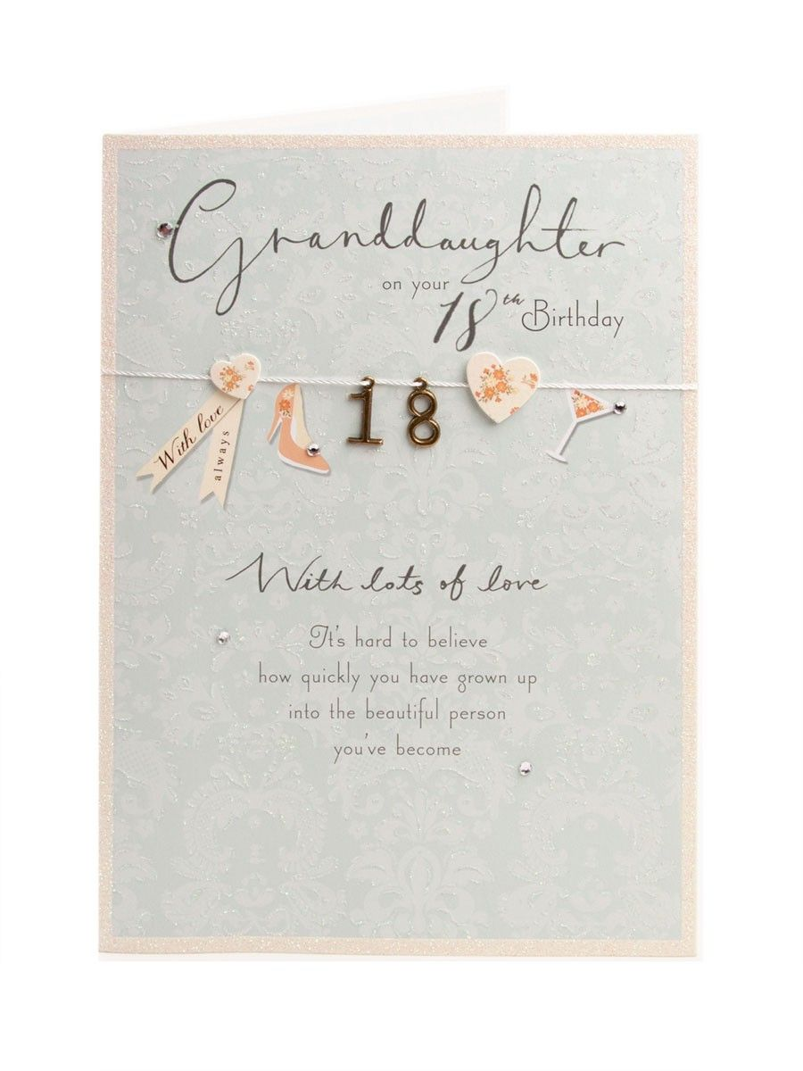 Clintons Collection Sparkling 18th Birthday Card Clintons 18th Birthday Cards Card Making Birthday 21st Birthday Cards