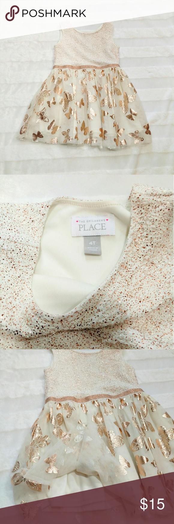 3 20 Children S Place Dress White Butterfly 4t Place Dress Fashion White Dress [ 1740 x 580 Pixel ]