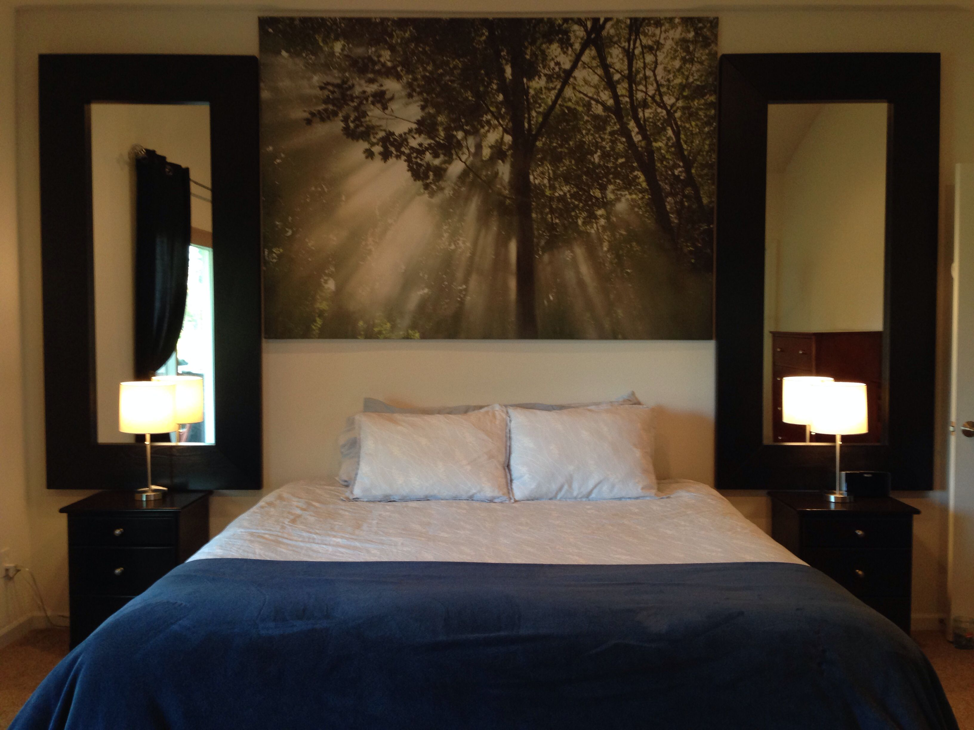 Our New Master Bedroom Decor Layout That Reminds Me Of A Vegas Hotel We Were Inspired By Ikea