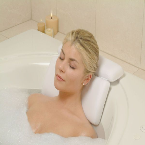 Spa Bath Pillow – $27. Oh WAIT, I need a bathtub to use this ...