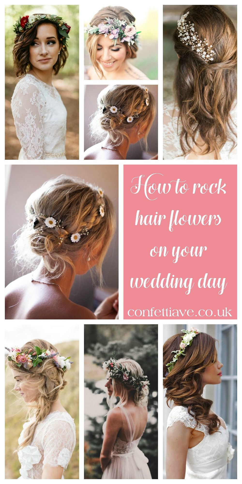 How to ROCK Hair flowers | Inspiration http://confettiave.co.uk/hair ...