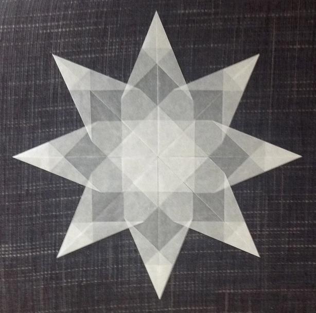 Weißer Stern 8 Zacken Transparentpapier Weihnachten