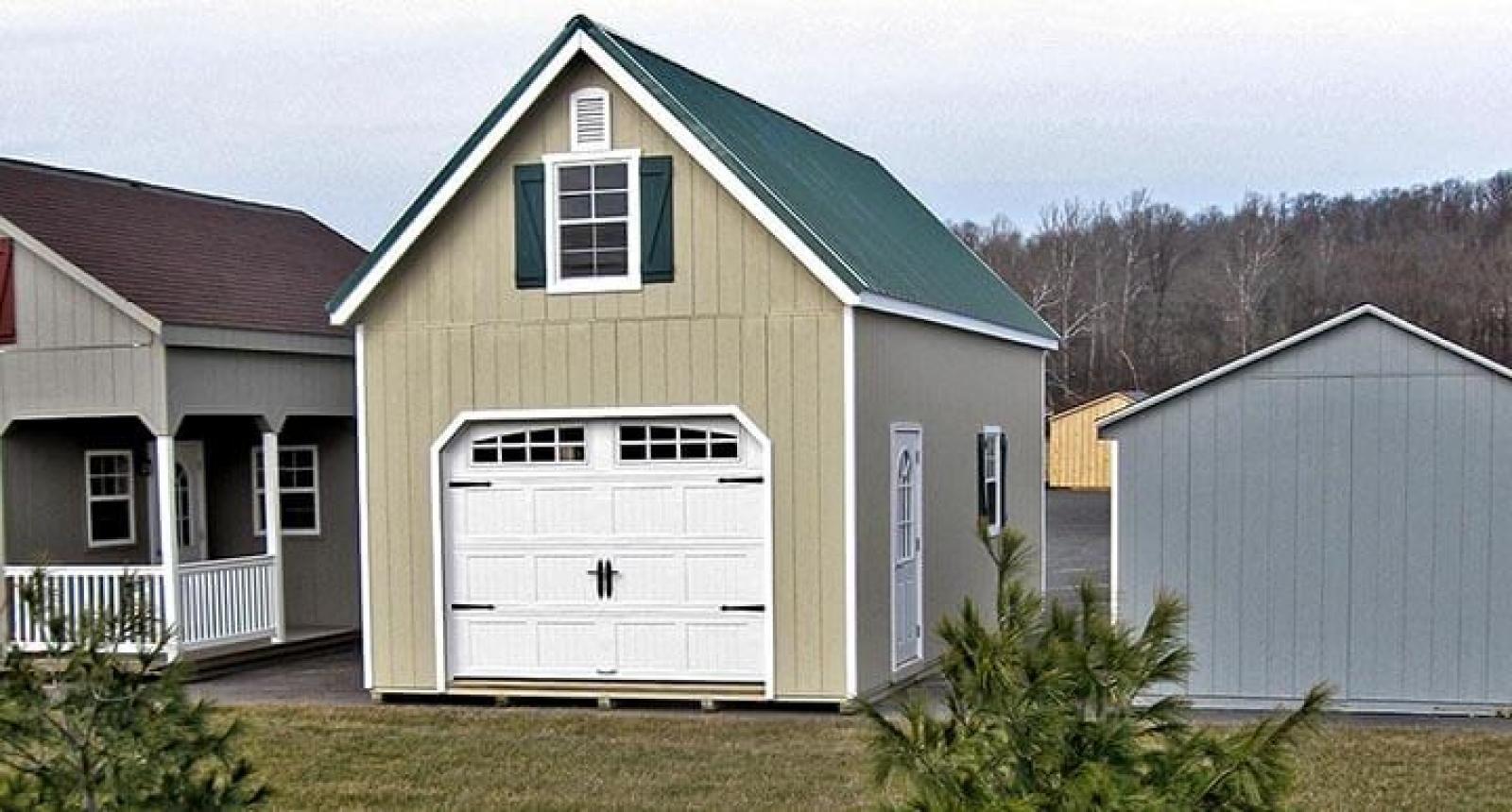 A 2 story prefab garage takes a few days of onsite labor