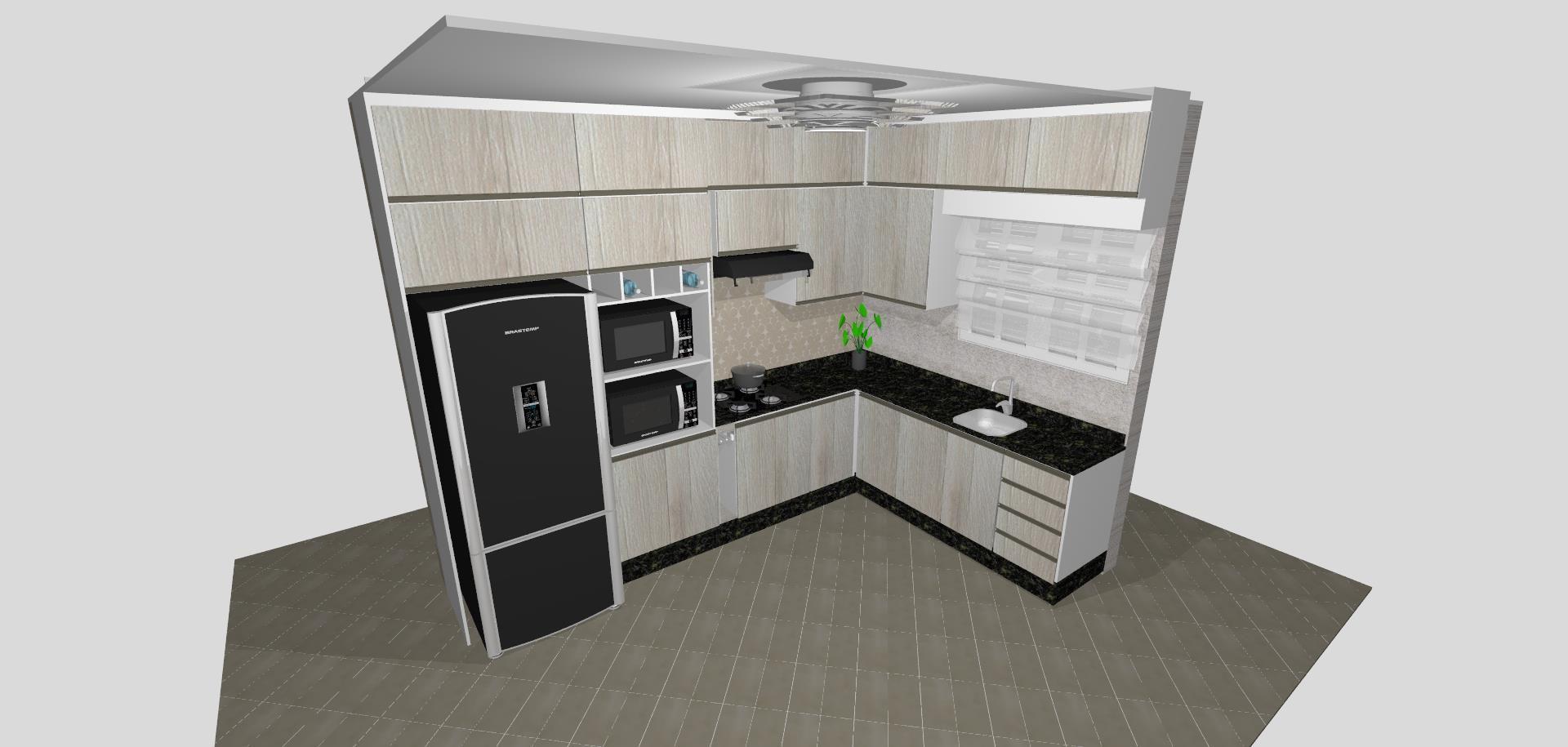 Cozinha Planejada Pequena Moveis Luciane Com Fechamento Ate O Teto