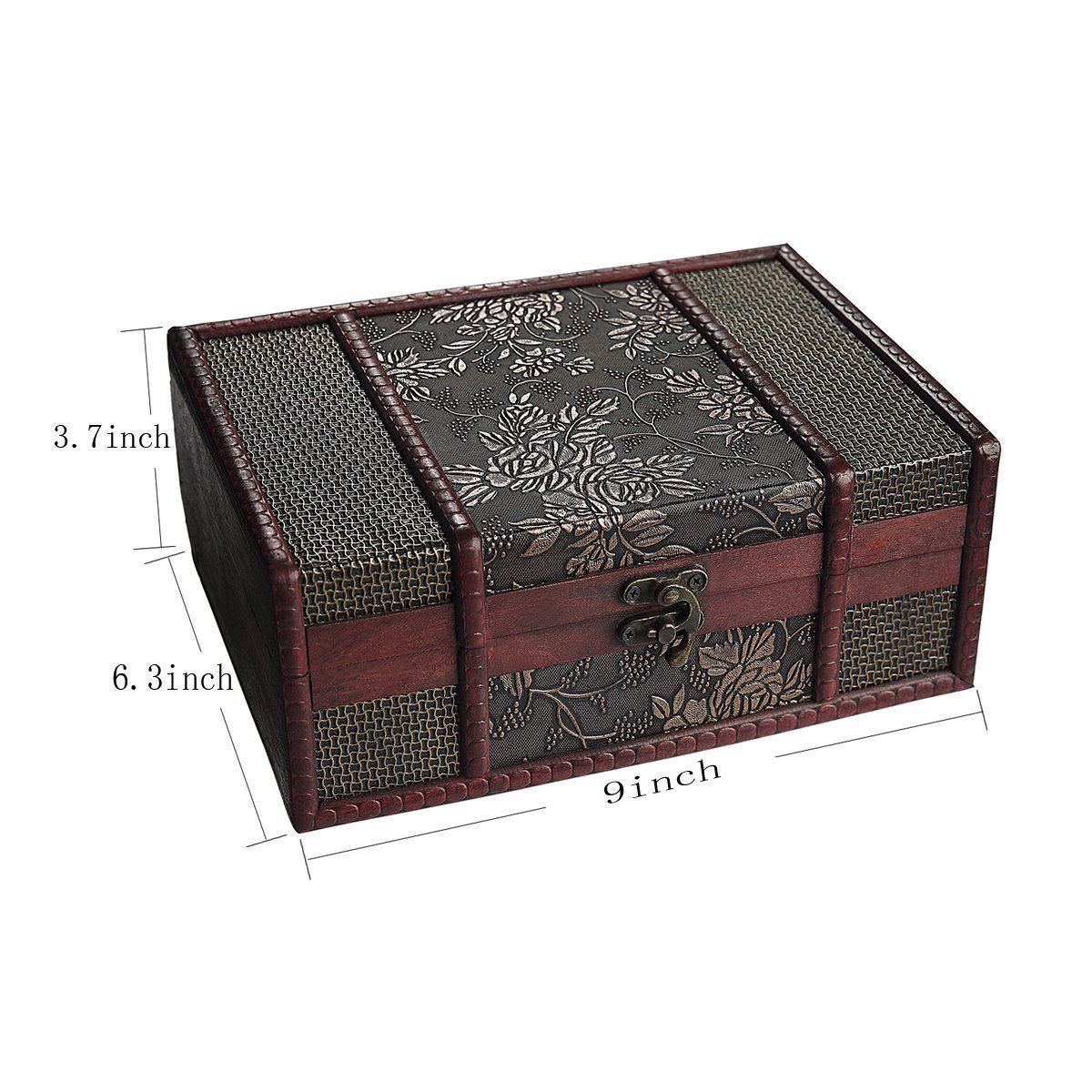 How To Decorate A Treasure Box Sicohome Treasure Box 90Inch Grape Small Trunk Box For Jewelry