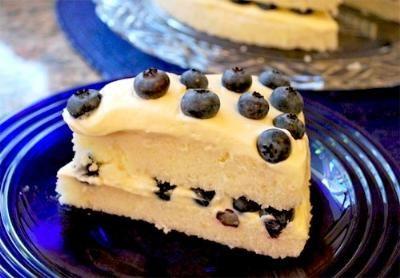 Gluten free Lemony Cream Layers with Fresh Berries