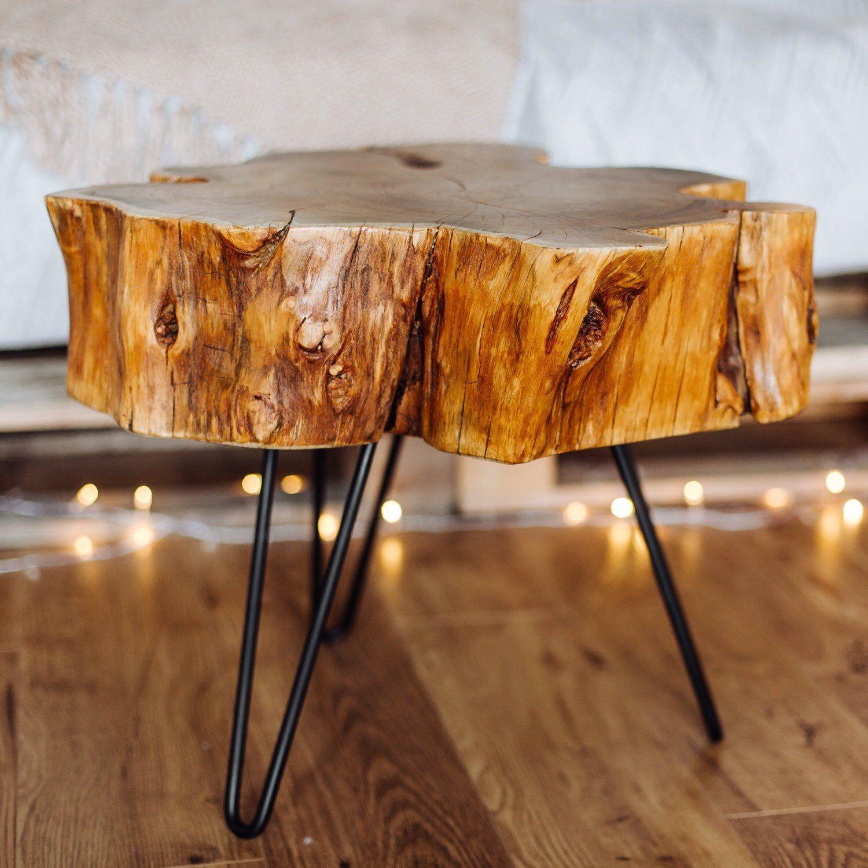 Live Edge Coffee Table Rustic Wood Slab Coffee Table Modern Hairpin Legs End Table Mid Century Coffee Table In 2020 Coffee Table Wood Live Edge Coffee Table Coffee Table