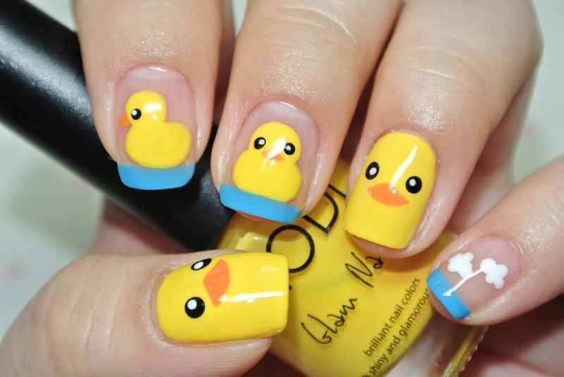 Nails - Rubber Duck - Nails - Rubber Duck Nails, Fancy Nails In 2019 Nail Art, Nails