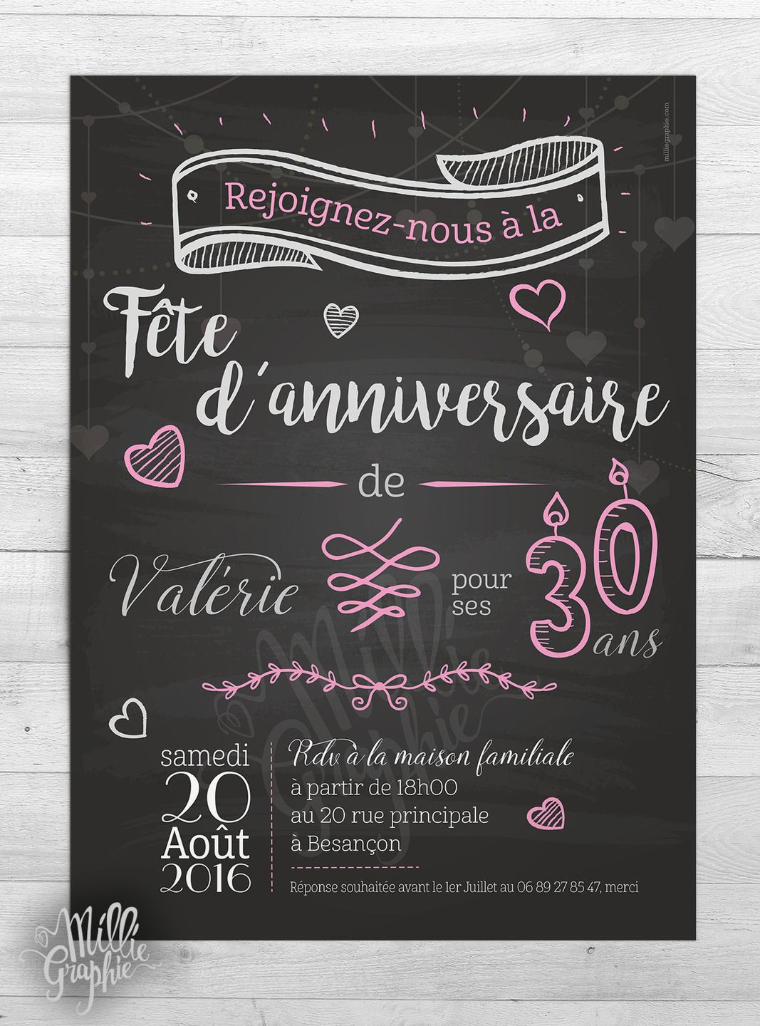 invitation anniversaire romantique carte invitation barbecue pinterest. Black Bedroom Furniture Sets. Home Design Ideas