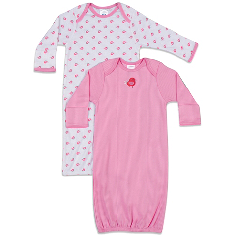 Gerber® Newborn 2-Pack Sleeper Gown in White/Pink | Kids - What to ...