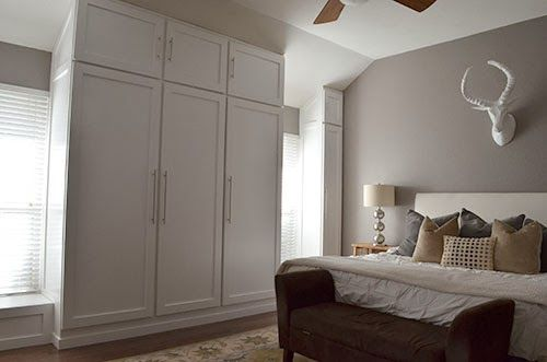 Diy How To Build A Wall Of Closets From Scratch For The Home In 2019 Bedroom Built In