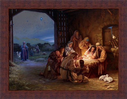 Light of the World by Mark Missman Manger Scene Nativity 18x14 ...
