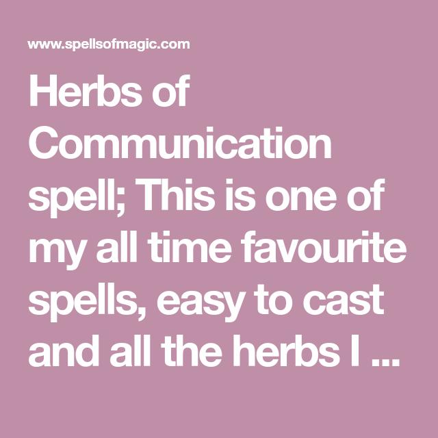 Herbs of Communication spell - Free Magic Spell | xanne's magic