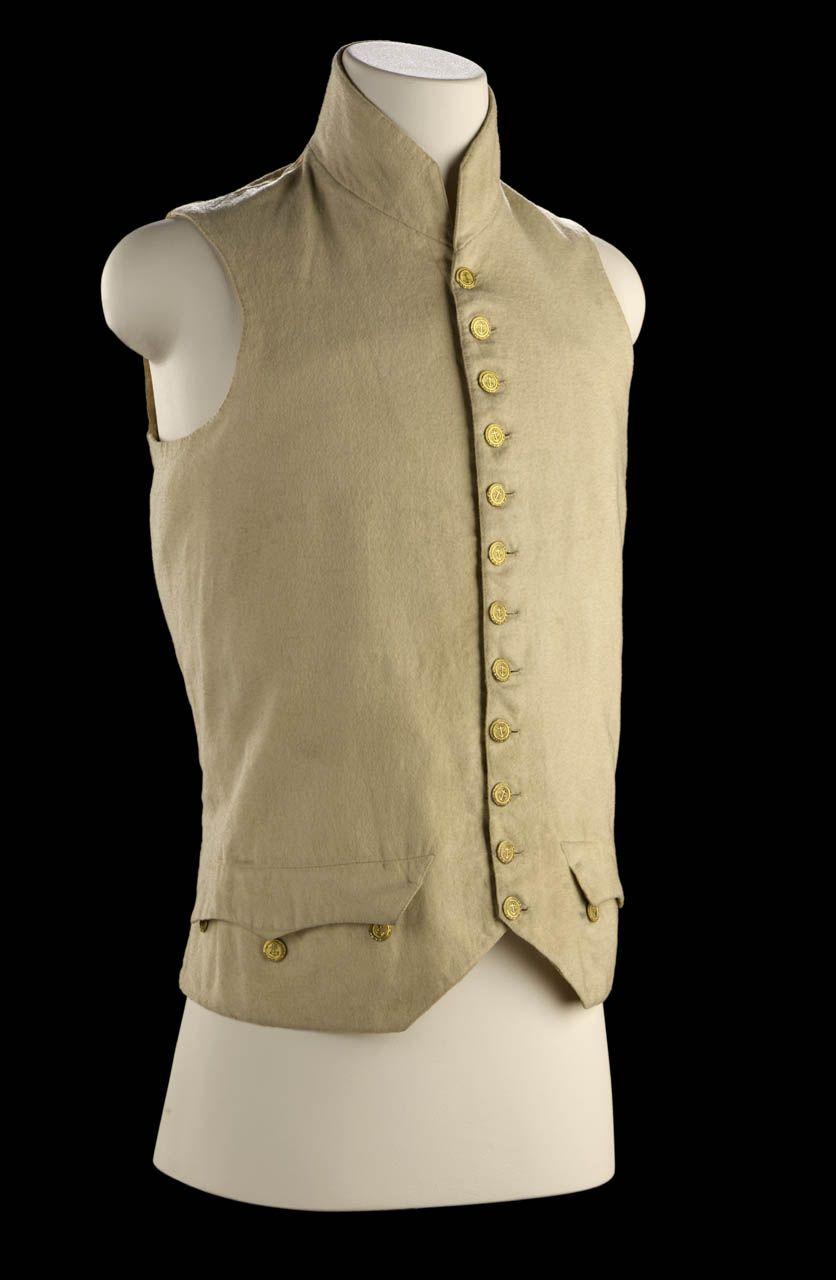 Mid 18th Century Wool Waistcoat w/ Working Pockets Qg5oIiMw2