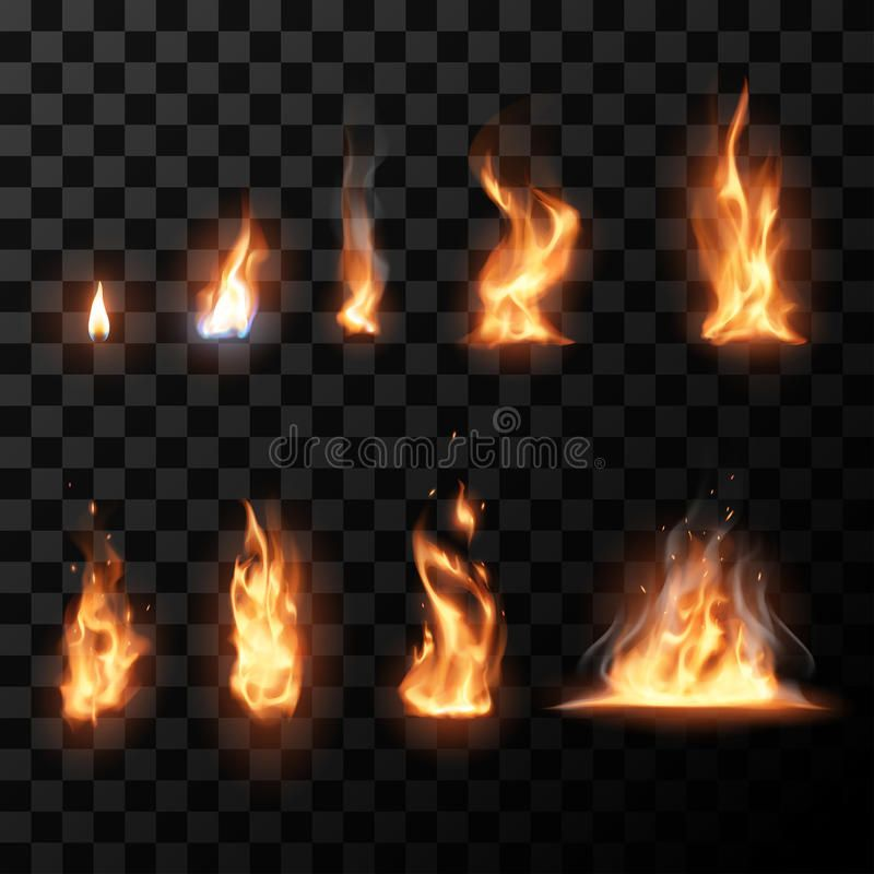 Realistic Fire Flames Set In Vector Ad Fire Realistic Flames Vector Set Ad Drawing Flames Fire Drawing Colors Of Fire