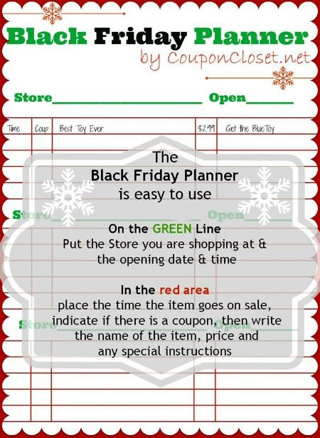 black friday planner coupon closet planner pages planner ideas printable planner free
