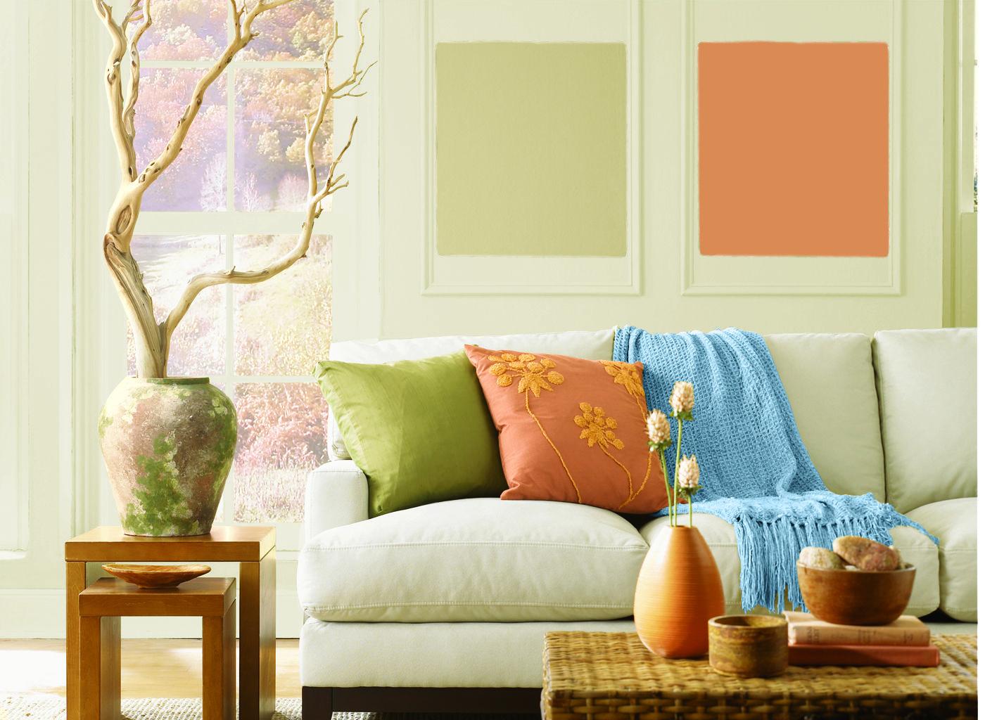Living Room in Light Sage   Living room paint, Living room ...