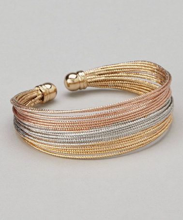 Another great find on #zulily! Rose Gold & Gold Stack Cuff #zulilyfinds