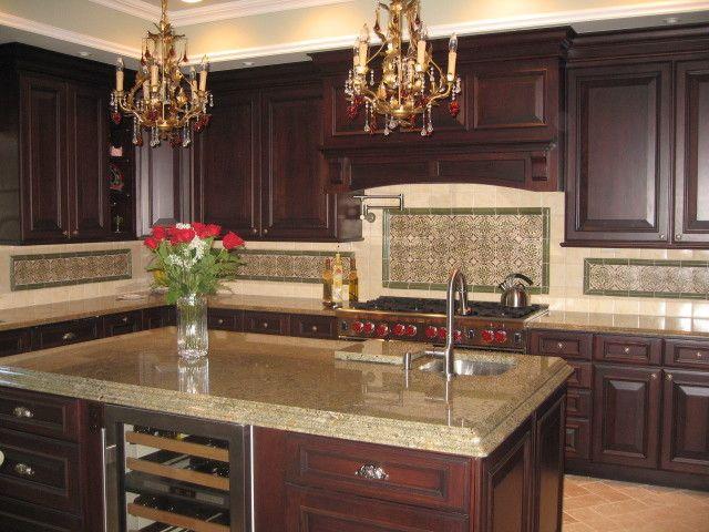 Decorative Spanish Tile Magnificent Spanish Tile Backsplash Dura Supreme Cabinetry Sub Zero Wine Decorating Design