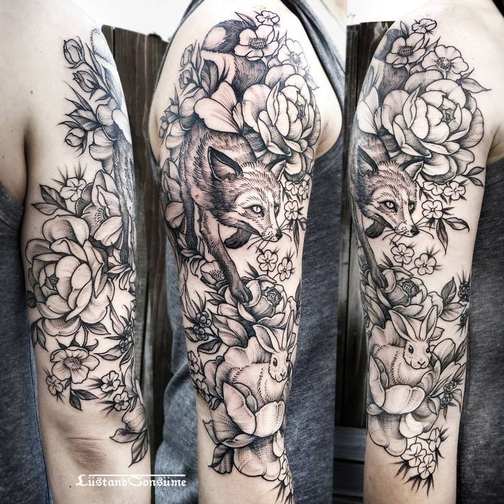 Image Result For Fox Wolf Tattoo Nature Tattoo Sleeve Sleeve Tattoos For Women Tattoos