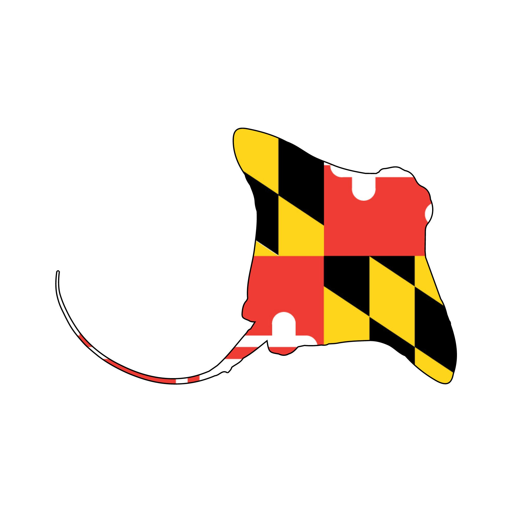 Maryland Flag Cownose Ray Decal Cownose Ray Vehicle Decal Etsy In 2020 Maryland Flag Car Decals Vinyl Decals