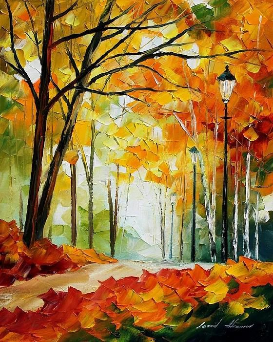 The Gold Of Fall - By Leonid Afremov
