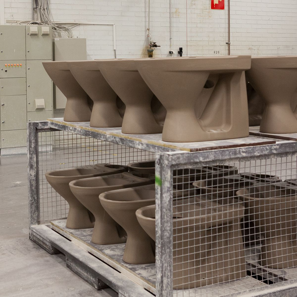 WC-istuimia ennen lasitusta. #bathroom #bathroomdesign #interiordesign #homespa #scandinaviandesign #bathroomideas #bathroomsink #interiordecoration #toilet #factory #sink #finnishdesign #bathroominspiration #ceramics #ceramicsoven #bathroomidea #tap #washbasin #fauset #behindthescenes #sanitary #porcelain #interiorideas #glazing #toiletseat