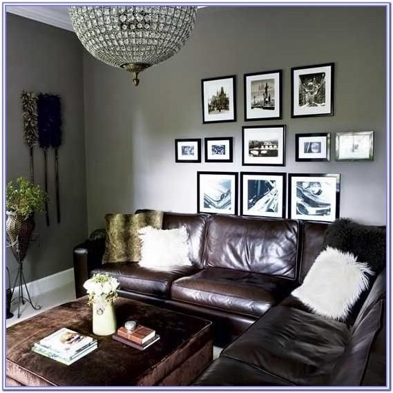 Leather Living Room Decor Grey Walls by Wayne Morales in ...