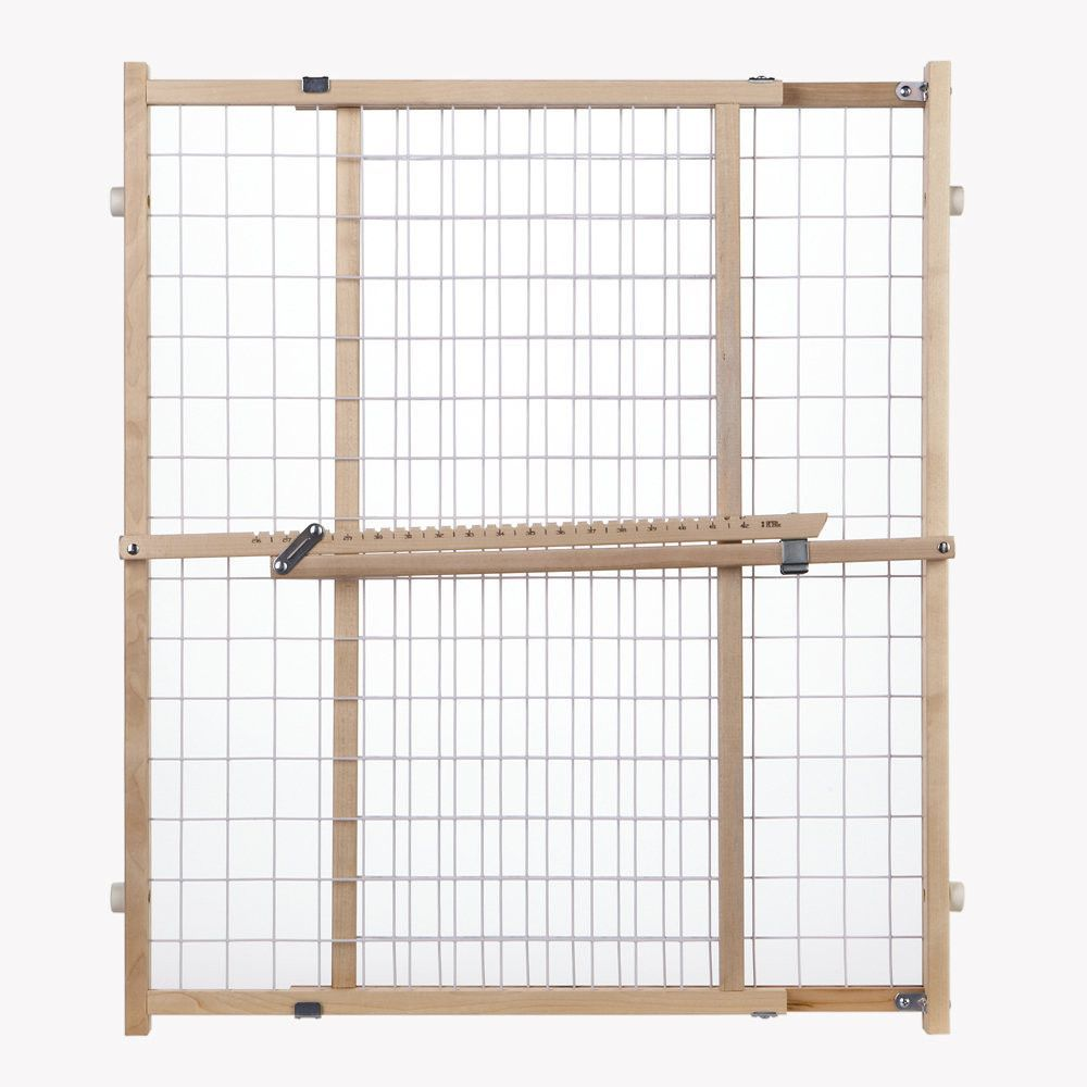 North States Wide Wire Mesh Pet Gate White, Wood 29.5\