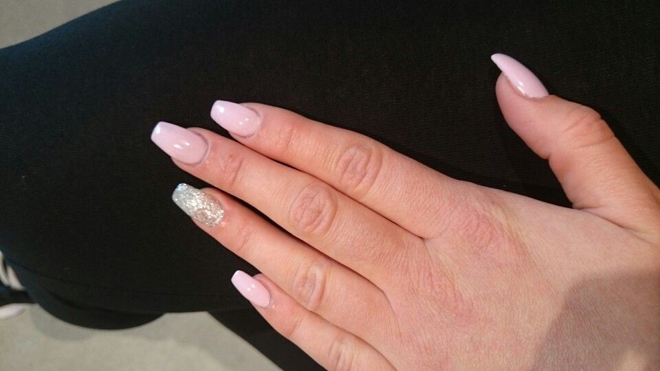 big sale aa607 fcb29 Ballerina naglar gelé pink rosa