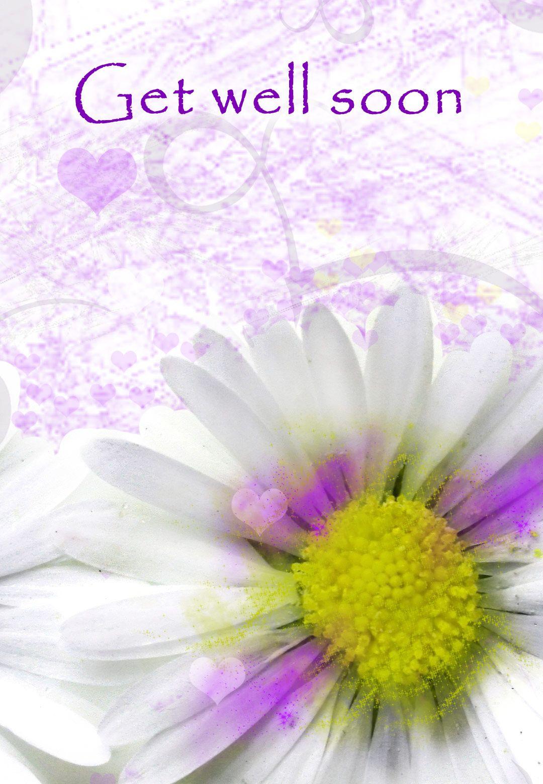 Free Printable Get Well Soon Flower Greeting Card Greetingisland