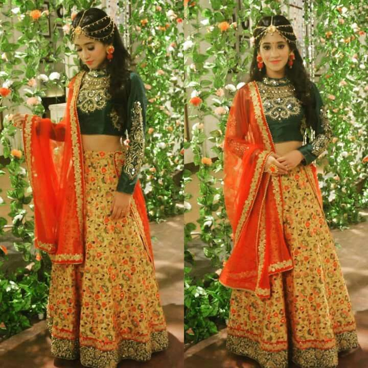 So cute and sweet love love youuuuu naira | Designer dresses indian, Indian designer outfits ...