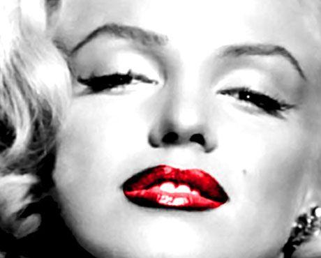 Marilyn Monroe Red Lips Retro Canvas Print Pop Art Poster Many Sizes