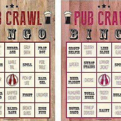 be239e51 PUB CRAWL BINGO Who is up for a game of pub crawl bingo? Check out ...
