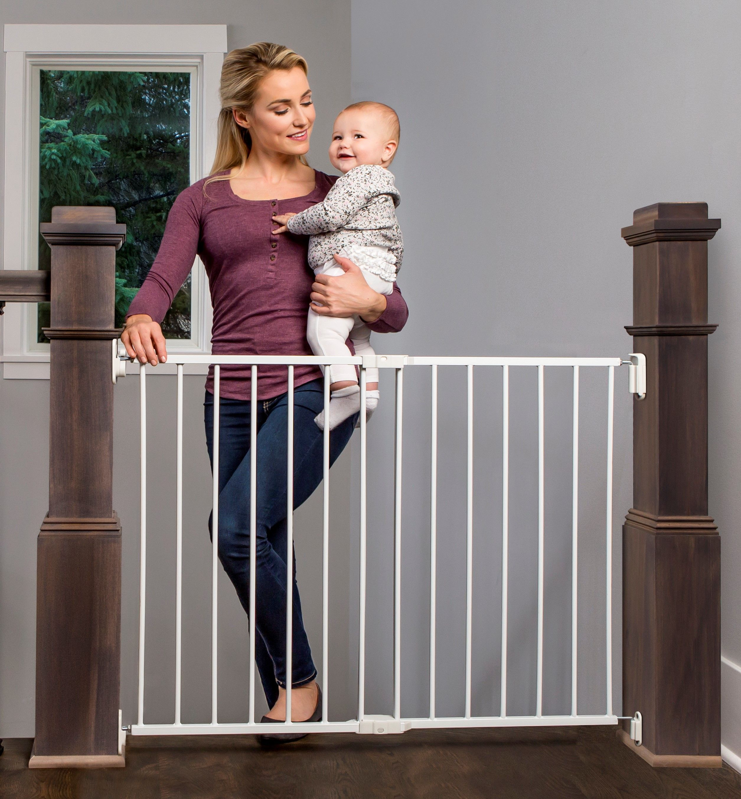 Regalo Extra Wide 2 In 1 Stairway And Hallway Safety Gate With Mounting Kit Walmart Com In 2021 Baby Safety Gate Best Baby Gates Baby Safety