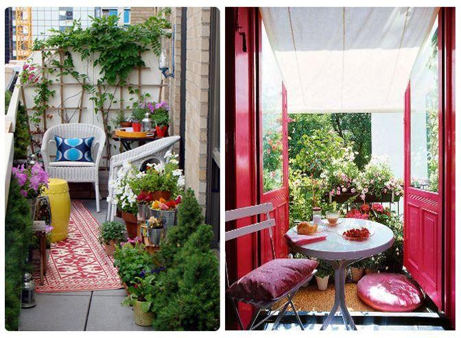 Decoraci n peque as terrazas y balcones peque a terraza - Balcones con encanto ...